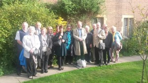 Fosse Group trip to Cambridge, October, 2014, after a hearty lunch at Westcott House Theological College!